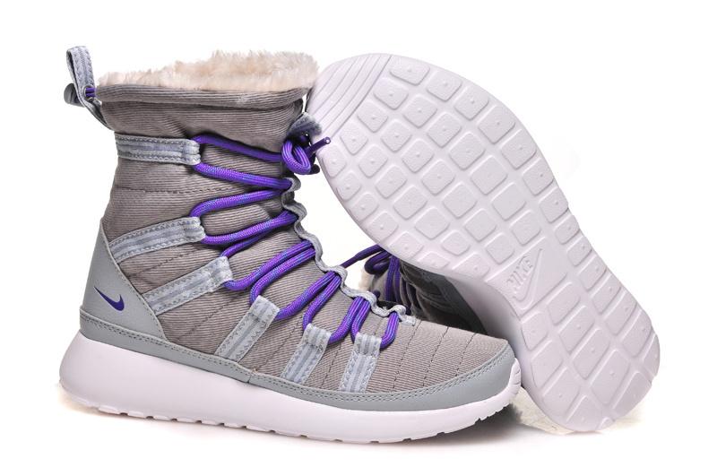 Nike Roshe Run Grise Et Blanche